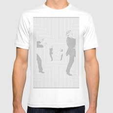 No Way Out White MEDIUM Mens Fitted Tee
