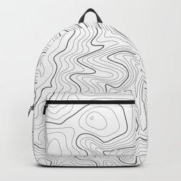 Gray Topo Line Design Backpack