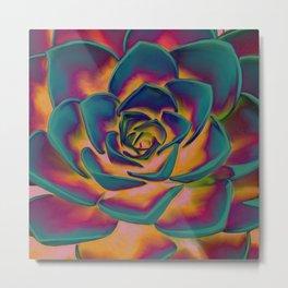 """""""Exotic Succulent Pop Art"""" Metal Print"""