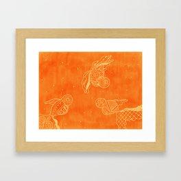 Goldfish with Pattern Framed Art Print