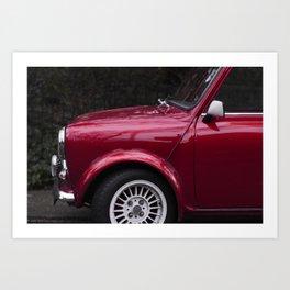 Classic red oldtimer I Vintage car I Side view Art Print