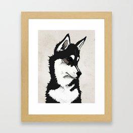Nico the Husky Framed Art Print