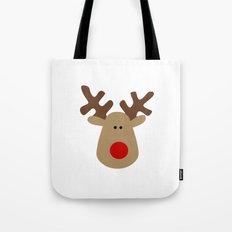 Christmas Reindeer-White Tote Bag