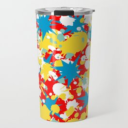 Abstract Floral Pattern Design Travel Mug