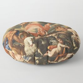 The Birth of Venus by Nicolas Poussin (1635) Floor Pillow