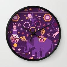 Hexagon circus Wall Clock