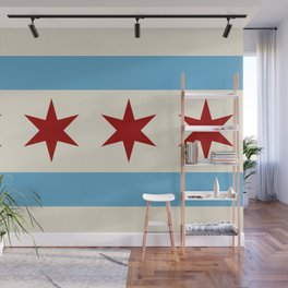 Chicago Flag II Wall Mural