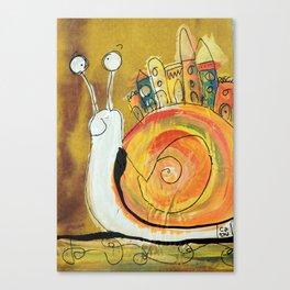 Happy Snail Canvas Print
