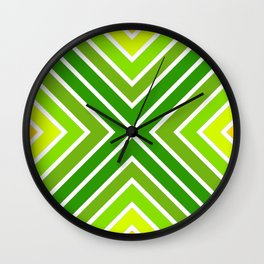 VooDoo Citrus Stripes 5 Wall Clock