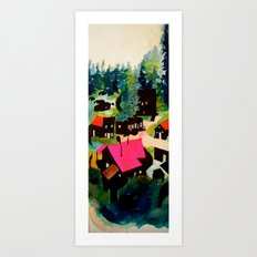 Weeping in the Pines Art Print