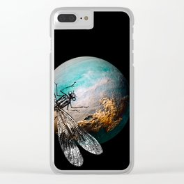 DRAGONFLY V Clear iPhone Case