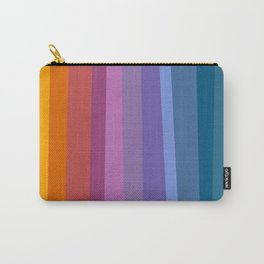 Modern Bright Rainbow Abstract Stripes Carry-All Pouch