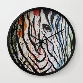 Splash of Zebra Wall Clock