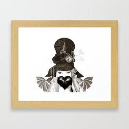 Holly's Hat Framed Art Print