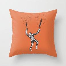 bolt hands Throw Pillow