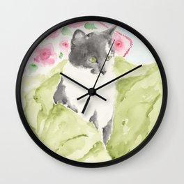 Miss Green Eyes Wall Clock