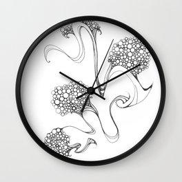 Dancing Splotch and Swirl Wall Clock