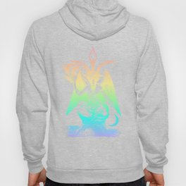 Pastel Rainbow Baphomet Hoody
