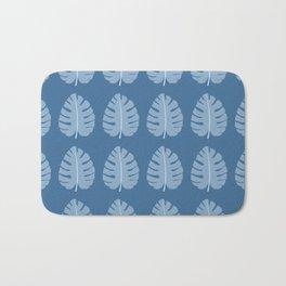 Ocean Beach Theme Palm Leaf Tropical Print Bath Mat