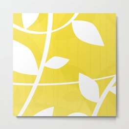 Vine in Yellow by Friztin Metal Print