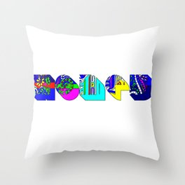 Honey tipography design Throw Pillow