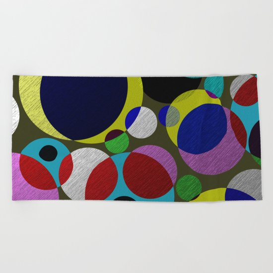 Bubbles - Fun, geometric, colourful design Beach Towel