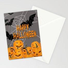 Pumpkins Happy Halloween Illustration Stationery Cards