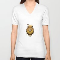 submarine V-neck T-shirts featuring Steampunk submarine by valzart