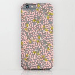 Floral - pink pattern iPhone Case