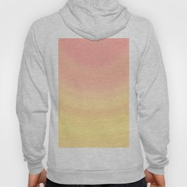 Pastel Millennial Pink Yellow Circle Ombre Gradient Pattern Hoody