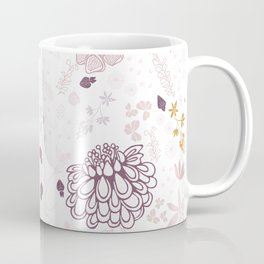 Field of Flowers on White Coffee Mug