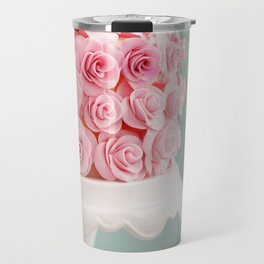 Cake with sugar roses Travel Mug