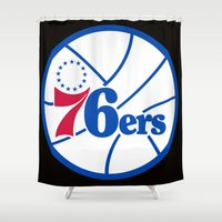 nba Shower Curtains featuring NBA - 76ers by Katieb1013