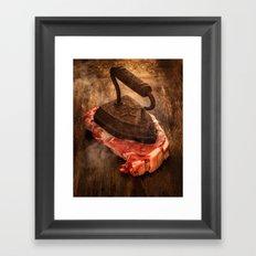 Iron Steak Framed Art Print