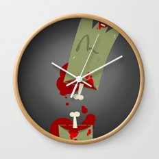 Lefty Zombie Wall Clock