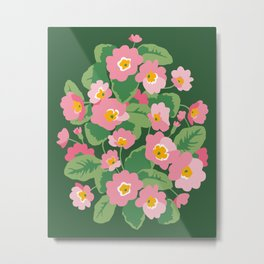 Blooming pink primrose Metal Print
