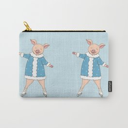 hello winter with cute piggy Carry-All Pouch