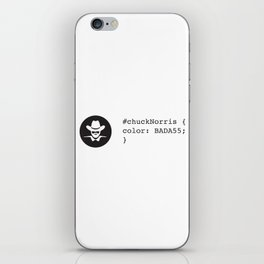 C.Norris - BADASS iPhone Skin