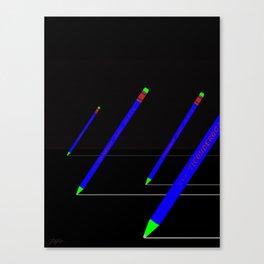 the pencil race 4000 Canvas Print