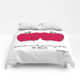 Kind Apples (or An Ode To My Imaginary Boyfriend) Comforters