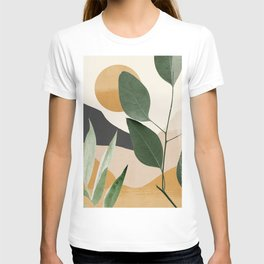 Abstract Art Tropical Leaves 8 T-shirt