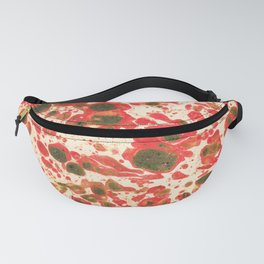 Colorful Christmas Holiday Marbling Fanny Pack