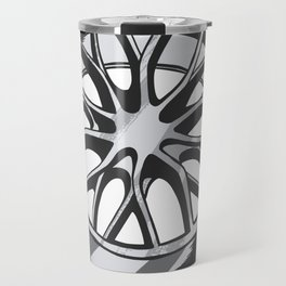 Car Wheels Chrome Travel Mug