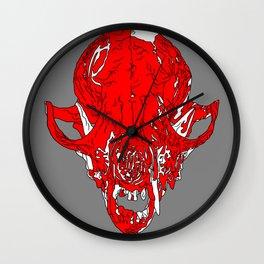 Fox Skull Wall Clock