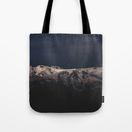 Dreamy sunset on the mountain top Tote Bag