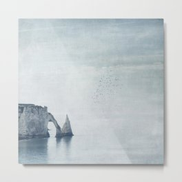 View of Chalk Cliffs Étretat-Normandy-France Metal Print