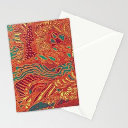 landscape in red Stationery Cards