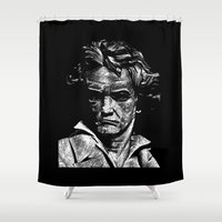 beethoven Shower Curtains featuring Beethoven by G_Stevenson