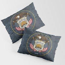 Utah State Flag, Vintage Version Pillow Sham