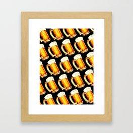 Bier Pattern Framed Art Print